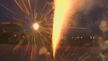 Es ilegal utilizar fuegos artificiales en la ciudad